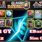 Clash Royale Grand champion league Giant Graveyard  Wizard Gameplay Victory
